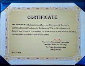 certificate_China_2018